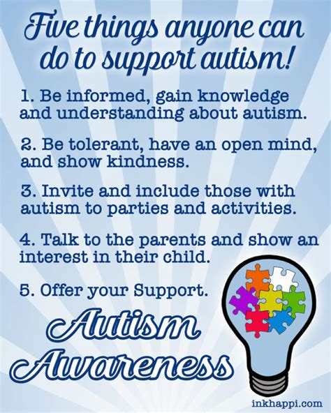autism support five things anyone can do to help inkhappi