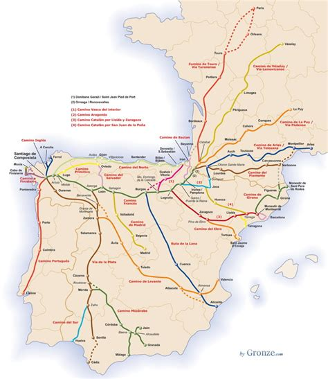 camino de santiago map the camino norte an introduction to the northern way