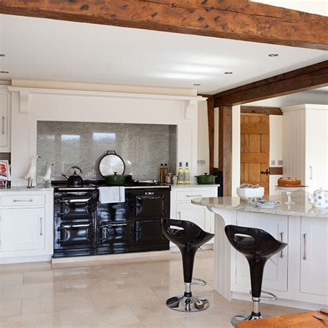 cream and black kitchen ideas smart home kitchen step inside this extended country cottage in