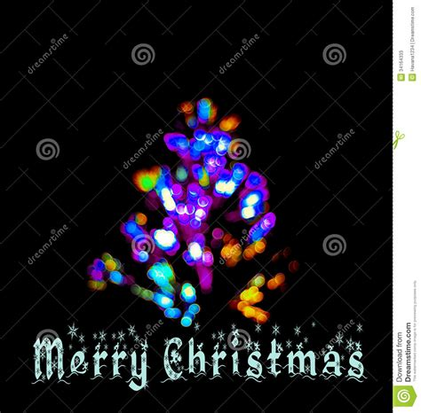 does 7 11 sell christmas lights a merry card with fir tree and led lights stock illustration image 34164333
