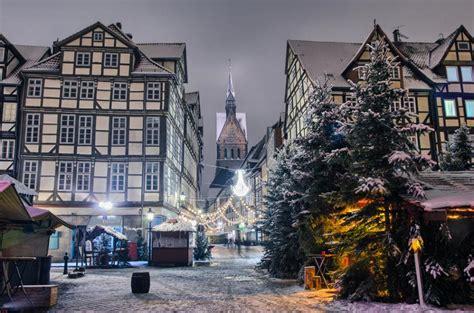 imagenes de invierno en alemania hanower zabytkowe stare miasto altstadt zdjęcia