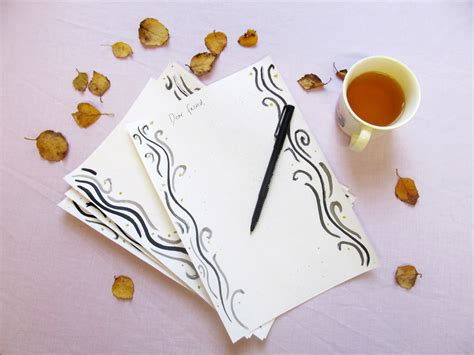 Handmade Writing Paper - handmade letter writing paper jessthetics