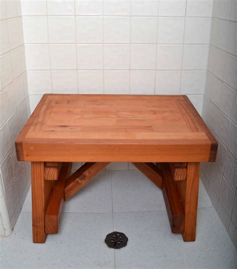 wooden bath bench wooden shower bench forever redwood