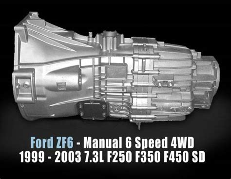 old car repair manuals 2008 ford e250 transmission control zf6 reman transmission 1999 2003 ford f250 f450 sd manual 6 spd 4wd