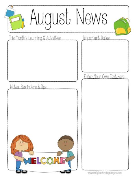 preschool newsletter templates newsletter templates free preschool images