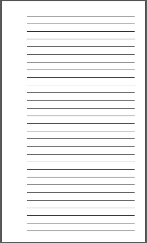 free printable numbered lined paper lined paper template kindergarten blank lined paper