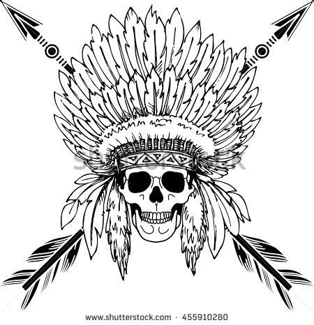 coloring page indian headdress stock photos royalty free images vectors shutterstock