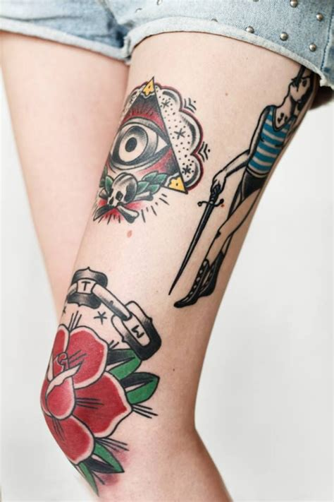 eyeball tattoo on knee 166 best tattoos images on pinterest tattoo ideas