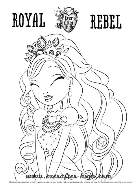 coloring pages of apple white apple white royal beauty dress coloring page ever after high