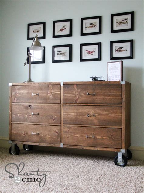 white rolling rustic wood dresser diy projects