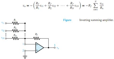 summing with resistors explain working of inverting summing lifier electrical