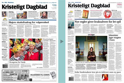 layout på artikel kristeligt dagblad avisdesign