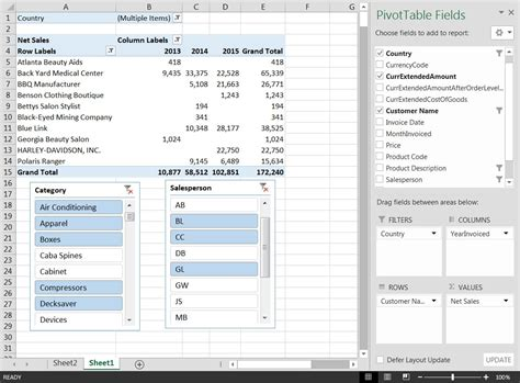 life s a slice r with excel 2010 inventory accounting