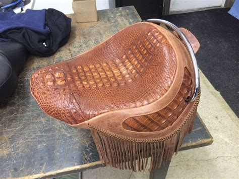 leather motorcycle seat upholstery alligator seat motorcycle seat harley davidson cycle
