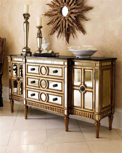 spring shopping my new gold mirrored table from build 88 best cabinets storage gt buffets sideboards images