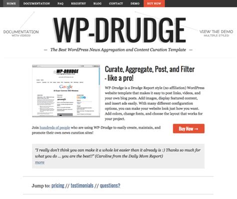 Drudge Report Template best aggregator themes for wp mayor