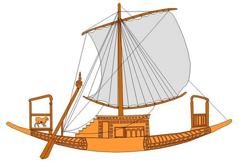 dessin bateau egyptien profili di navi dell antichit 224