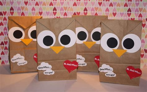 valentines bags didi relief society guess whoo you