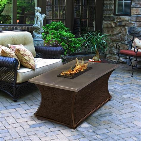gas pit coffee table outdoor gas pit coffee rectangle pit table