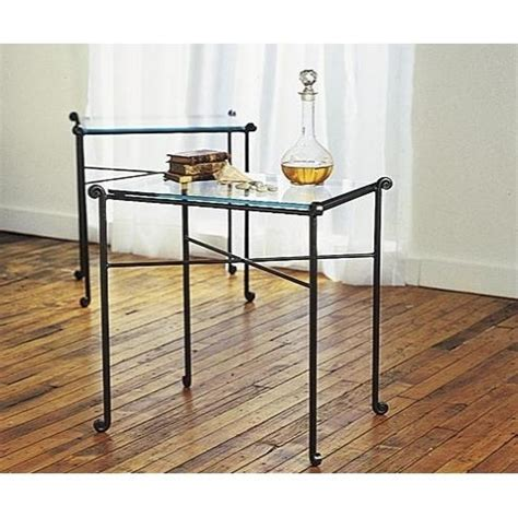 wrought iron tables with glass tops wrought iron end tables with glass tops shelby