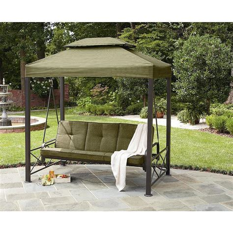 Patio Swing Daybed With Canopy Outdoor 3 Person Gazebo Swing Lawn Garden Deck Pool Patio