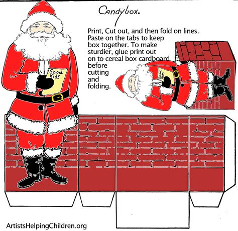 templates for christmas boxes paper crafts templates make a santa clause paper candy