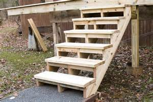 Stairs Without Stringers by Building And Installing Deck Stairs Professional Deck