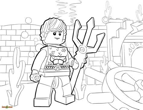 Lego Underwater Coloring Pages | lego dc universe super heroes coloring pages free