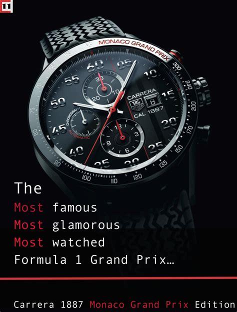 Tag Heuer Carerra F1 Edition 1 2014 tag heuer 1887 quot monaco grand prix quot titanium edition the home of tag heuer collectors
