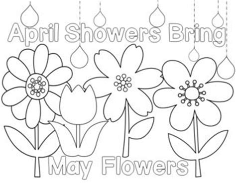 students can color in the spring flowers and the saying