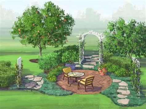 Gardens Why Not And Close To Home On Pinterest Fruit Tree Garden Layout