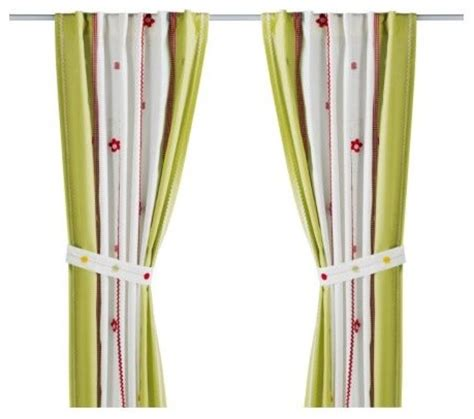 curtain tie backs for childrens rooms fabler b 197 rd curtain with tie back scandinavian kids