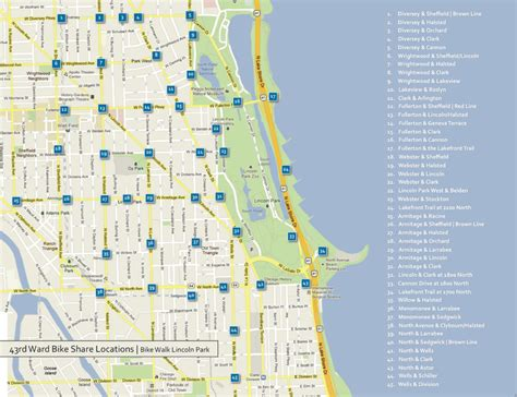 lincoln park chicago map lincoln park chicago map