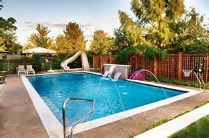 Outdoor Swimming Pool by Geometric Outdoor Inground Swimming Pools Traditional