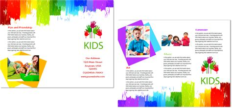 preschool brochure template child care brochure template 9 child care owner