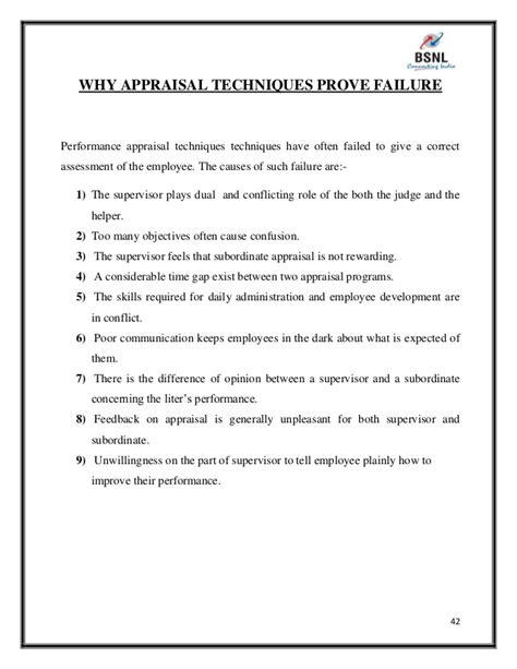 Performance Appraisal Questionnaire For Mba Project Report by Project Report On Performance Appraisal Of Bsnl