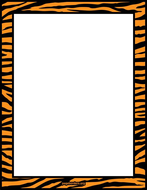 Printer Bordir tiger print border frame tiger tiger