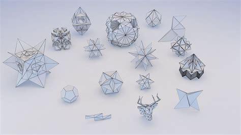 Origami Models - origami geometric 3d model max obj 3ds fbx mtl cgtrader