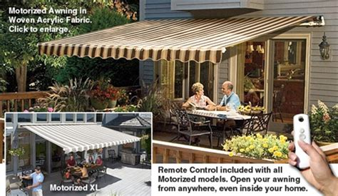 sunsetter patio awnings sunsetter motorized awnings