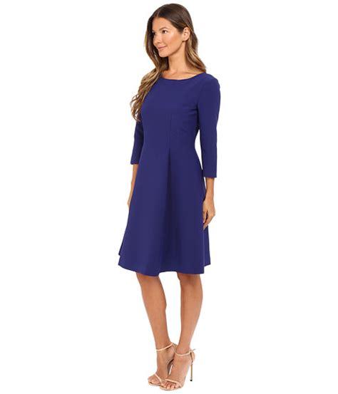boat neck dress with 3 4 sleeves alberta ferretti 3 4 sleeve boat neck pleated dress deep