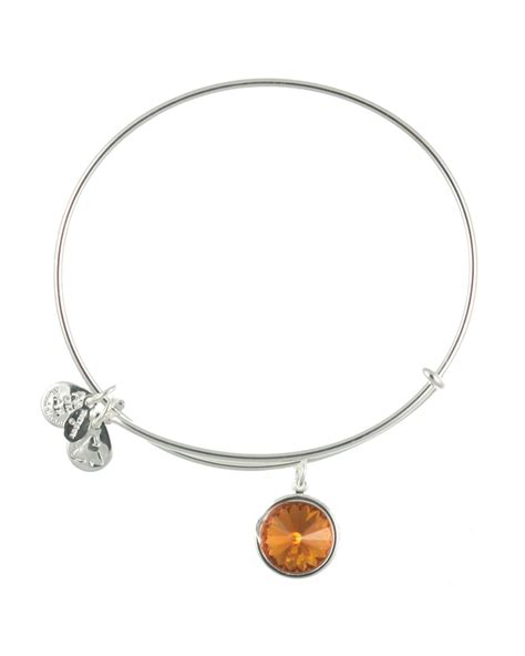 Alex And Ani November Birthstone Bangle In Silver