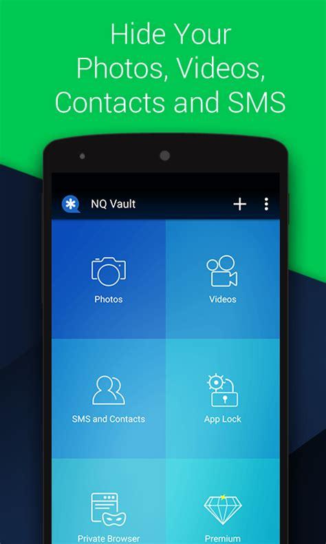 vault hide sms pics app lock cloud backup