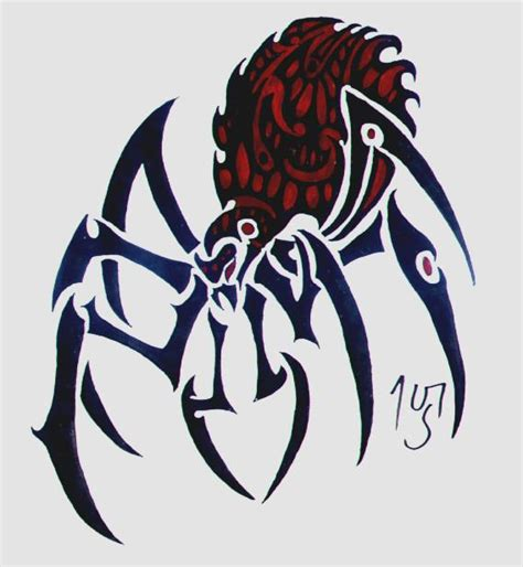 spider tribal tattoos tribal spider by sakashima on deviantart