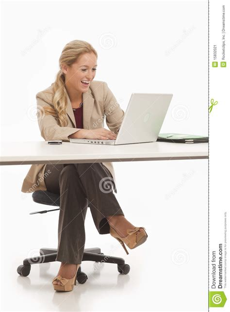 Sitting At Desk by Business Sitting At Desk Stock Image Image 15832021