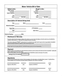 vehicle bill of sale template free doc 512742 car bill of sale template free bill of sale