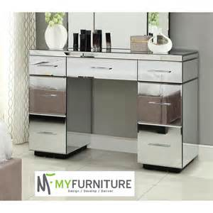 Home rio mirrored dressing table console 7 drawer mirror furniture
