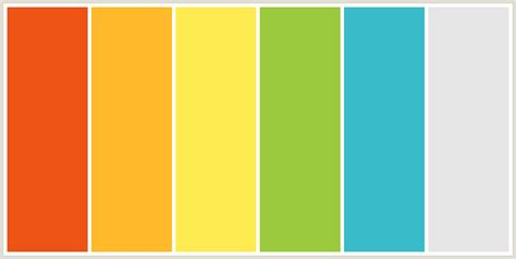 using blue yellow and yellow green color combos colorcombo377 with hex colors ed5314 ffb92a feeb51