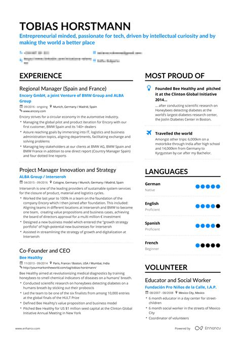 Successful Resumes by Successful Resumes Manager Enhancv