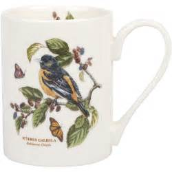 portmeirion botanic garden coffee mug baltimore oriole