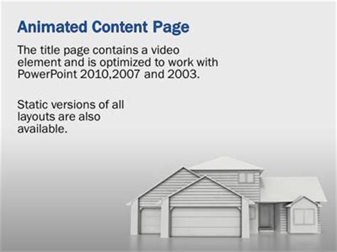 powerpoint templates for real estate housing real estate a powerpoint template from